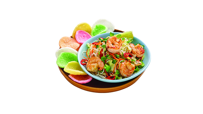 Lemograss prawn salad